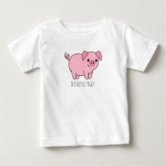 Deze Kleine T-shirt van Jersey van het Baby Piggy