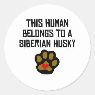 Deze Mens behoort tot een Schor Siberiër Ronde Sticker