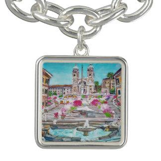 Di Spagna - de Vierkante Armband van de Charme,