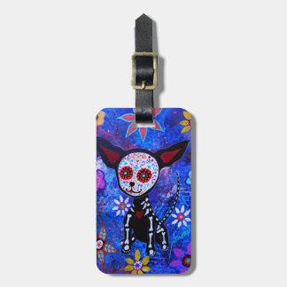 Dia DE los Muertos Chihuahua Bagagelabel