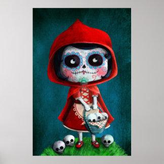 Dia DE los Muertos Little Rode Berijdende Kap Poster