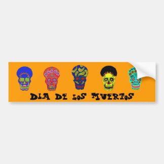 Dia DE los Muertos schedels Bumpersticker