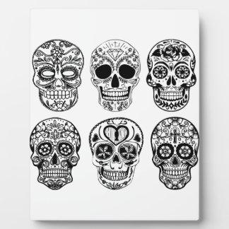 Dia DE los Muertos Skulls (Dag van de Doden) Fotoplaat