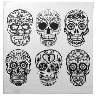 Dia DE los Muertos Skulls (Dag van de Doden) Katoenen Servet