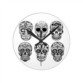 Dia DE los Muertos Skulls (Dag van de Doden) Ronde Klok