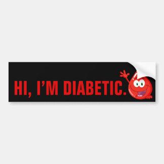 Diabetes Inleiding Bumpersticker