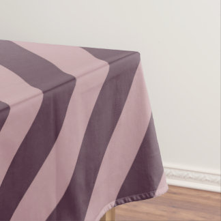 Diagonale Donkere Roze Strepen Tafelkleed