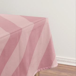 Diagonale Roze Strepen Tafelkleed