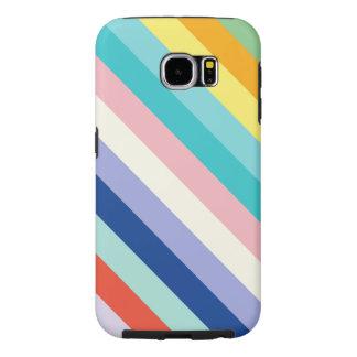 Diagonale Strepen in de Kleuren van de Lente Samsung Galaxy S6 Hoesje