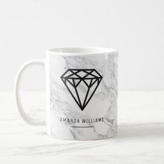 Diamant met Marmer Koffiemok