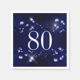 Diamant Sparkly van de 80ste Verjaardag van Wegwerp Servet