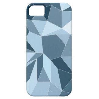 Diamant van Giometric stelde blauw patroon in de Barely There iPhone 5 Hoesje