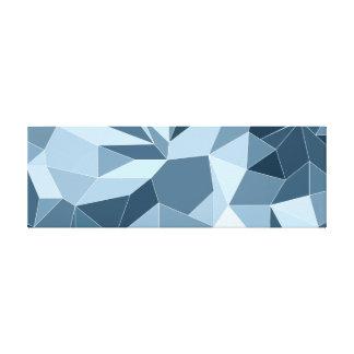Diamant van Giometric stelde blauw patroon in de Canvas Print