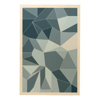 Diamant van Giometric stelde blauw patroon in de Hout Prints