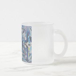 Diamant van het glas berijpte 10 de oz Berijpte Matglas Koffiemok