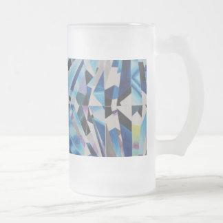 Diamant van het glas berijpte 16 de oz Berijpte Matglas Bierpul