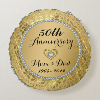 Diamanten & het Gouden 50ste Jubileum van het Rond Kussen