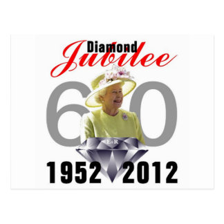 Diamanten jubileum 1952-2012 briefkaart