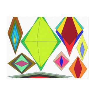 Diamanten van illusie canvas print