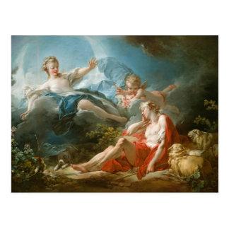 Diana en Endymion door Jean-Honoré Fragonard Briefkaart