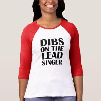 Dibs op het grappige overhemd Hoofd van de Zanger T Shirt