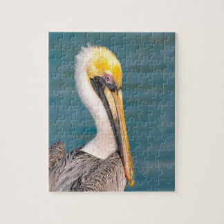 Dichte Omhooggaand van het Portret van de pelikaan Puzzel