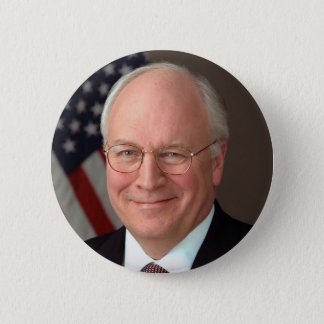 Dick Cheney Ronde Button 5,7 Cm