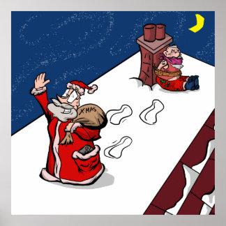 """""""Diefstal"""" - het Britse Poster van Kerstmis Gamer"""