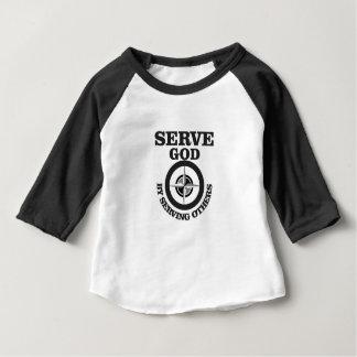 dienende god door anderen te dienen baby t shirts