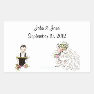 Dienst van de Kerk van de Bruidegom van de Bruid Rechthoek Stickers
