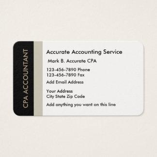 Diensten de bedrijfs van de Accountant Visitekaartjes