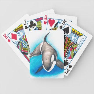 Diepe de orka duikt bicycle speelkaarten