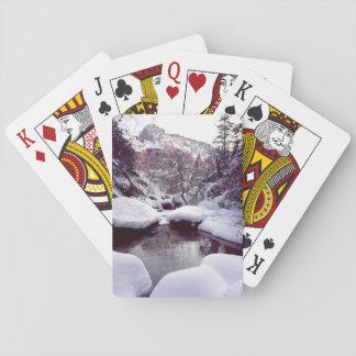 Diepe sneeuw bij Midden Smaragdgroene Pools Pokerkaarten