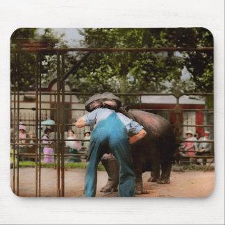 Dier - Hippo - Stomme menselijke trucs 1910 Muismat