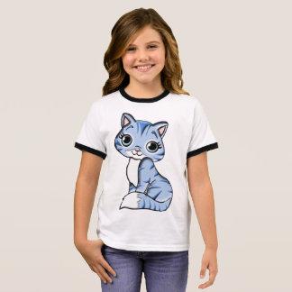 Dier van de kat van de sleeves van de T-shirt van