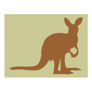 Dier van de Kunst van Australië van de Kangoeroes  Wens Kaart