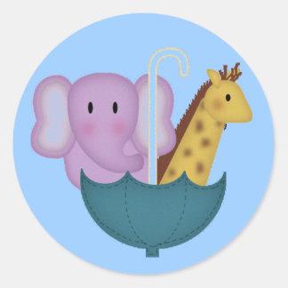Dieren in de Stickers van een Paraplu