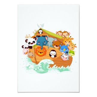 Dieren op de Uitnodigingen van de Kunst Noahs