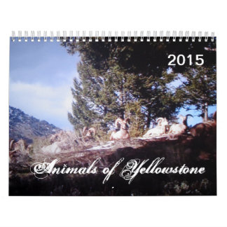 Dieren van Douane Gedrukte Kalender Yellowstone