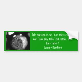 Dierlijke citaten - Jeremy Bentham 2 bumpersticker