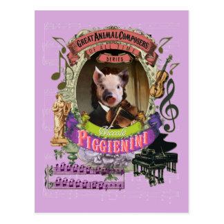 Dierlijke Componist Paganini van het Varken van Briefkaart