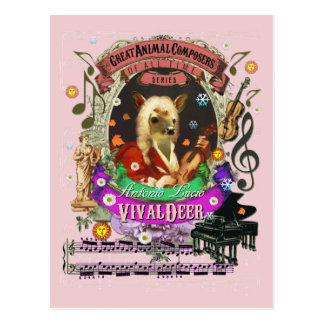 Dierlijke Componist Vivaldi van Fawn van de Herten Briefkaart