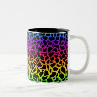 Dierlijke de drukmok van de regenboog tweekleurige koffiemok