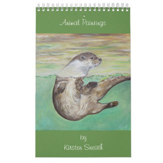 Dierlijke schilderijen door Kirsten Sneath Kalender