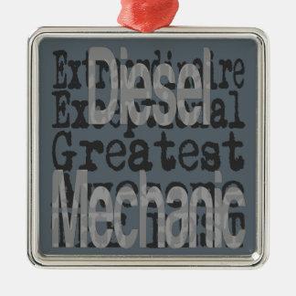 Diesel Mechanische Extraordinaire Zilverkleurig Vierkant Ornament