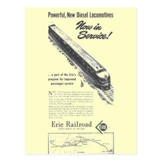 Diesel van de Spoorweg 1948 van Erie Nieuwe Briefkaart