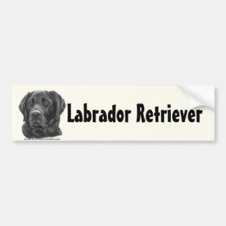 Diesel, Zwarte Labrador Bumpersticker