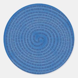 digitaal ronde sticker