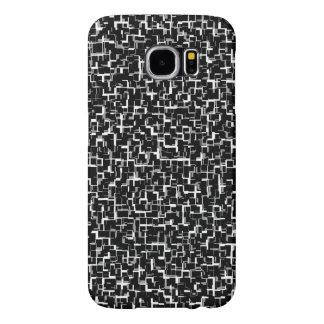 Digitaal Zwart Wit Patroon Camo Samsung Galaxy S6 Hoesje
