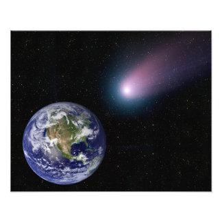 Digitale samenstelling van een komeetrubriek naar foto afdruk